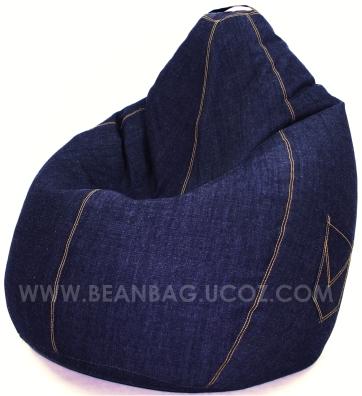 Кресло груша из старых джинсов своими руками 37